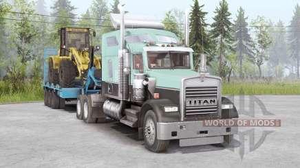 Kenworth W900 6x4 para Spin Tires
