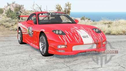 Mazda RX-7 Fast & Furious v1.1 para BeamNG Drive