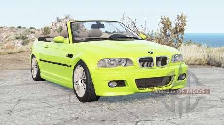 BMW M3 Convertible (E46) 2001 para BeamNG Drive